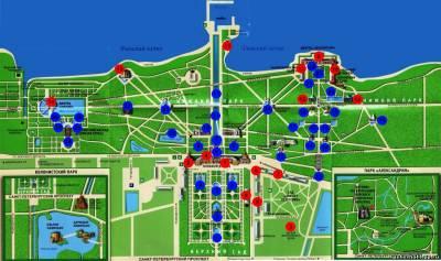 карта петергофа